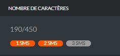 Caractères SMS multiples