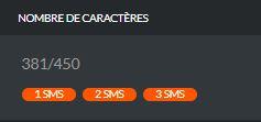 SMS 450 caractères maximum