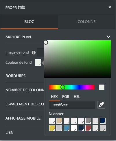 couleur hexadecimal RVB
