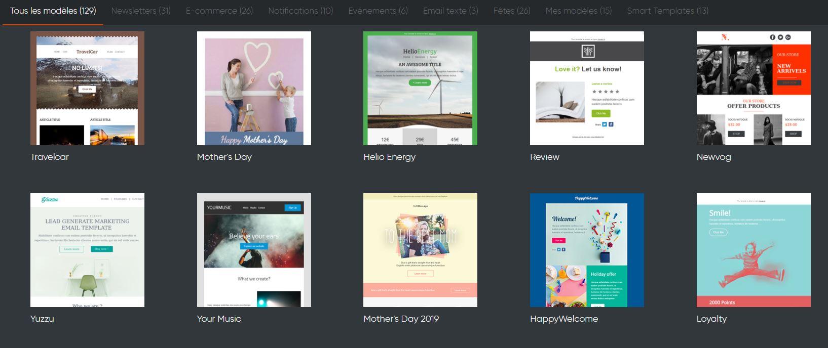 Templates emailing responsive design gratuits